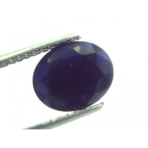 3.15 Ct 5.25 Ratti Natural Dark Bangkok Blue Sapphire Gemstone Heated