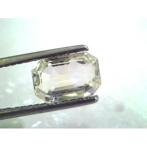 2.76 Ct Unheated Untreated Natural Premium White Sapphire Gems