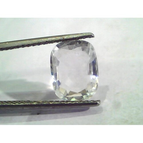 3.75 Ct Unheated Untreated Natural Certified White Sapphire Gems