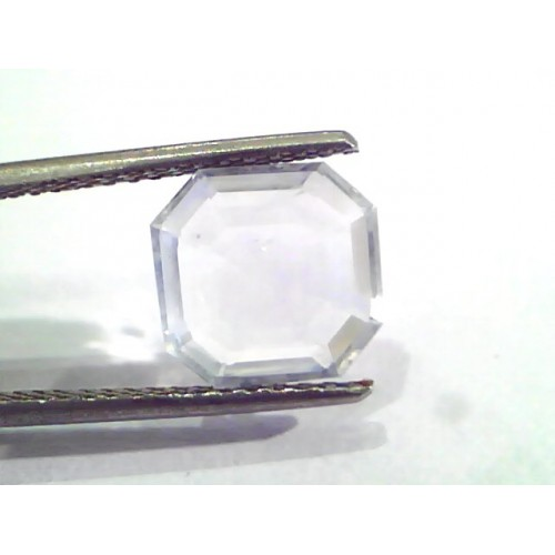 3.82 Ct Unheated Untreated Natural White Sapphire Gemstone