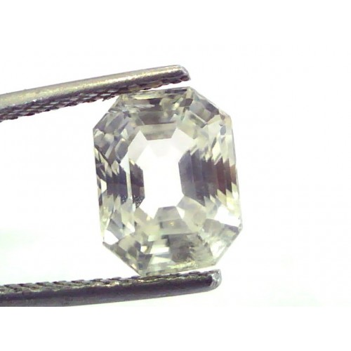 4.39 Ct Unheated Untreated Natural Premium White Sapphire Gemstone