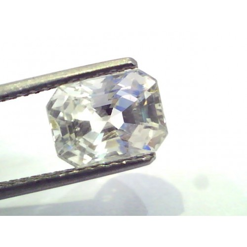 4.89 Ct Certified Unheated Untreated Natural Premium White Sapphire AA