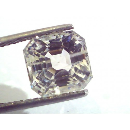 6.66 Ct Unheated Untreated Natural Premium White Sapphire Gemstone