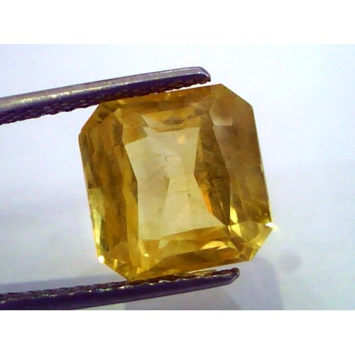 Huge 10.07 Ct Unheated Untreated Natural Ceylon Yellow Sapphire