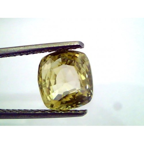 3.28 Ct Unheated Untreated Natural Ceylon Srilankan Yellow Sapphire