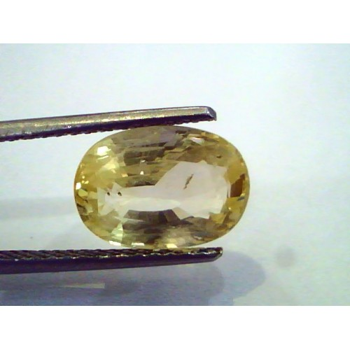 5.73 Ct Unheated Untreated Natural Ceylon Yellow Sapphire Pukhraj