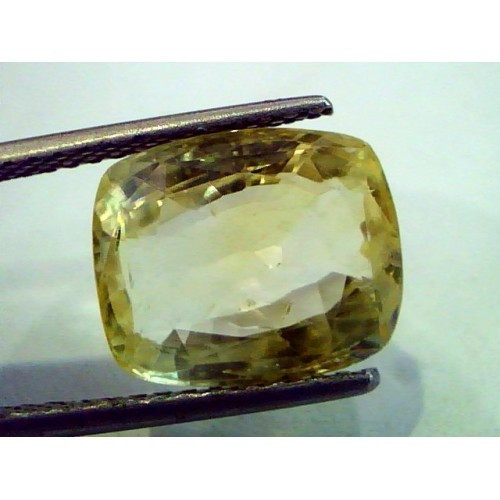 8.32 Ct Certified Unheated Untreated Natural Ceylon Yellow Sapphire