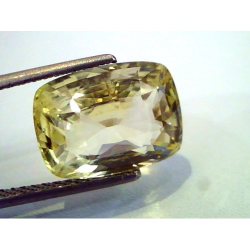 8.7 Ct Certified Unheated Untreated Natural Ceylon Yellow Sapphire