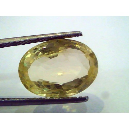 9.67 Ct Unheated Untreated Natural Ceylon Yellow Sapphire Pukhraj
