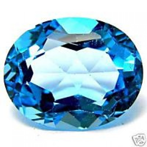 2-6 Carat Natural Swiss Blue Topaz Gemstone For Saturn