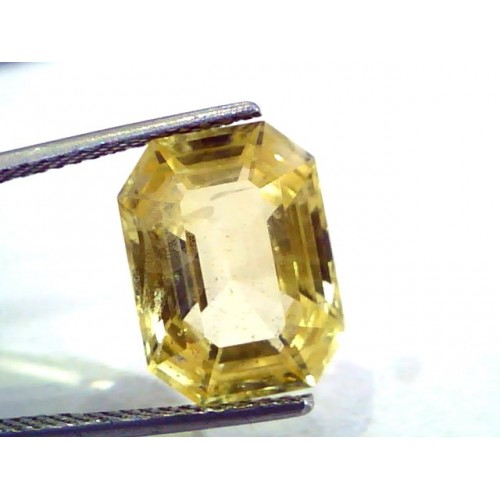 Huge 10.24 Ct Unheated Untreated Natural Ceylon Yellow Sapphire AAA