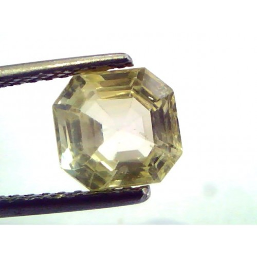 2.58 Ct Unheated Untreated Natural Ceylon Yellow Sapphire/Pukhraj