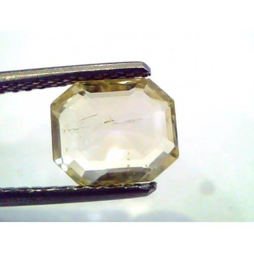 2.66 Ct Unheated Untreated Natural Ceylon Yellow Sapphire/Pukhraj