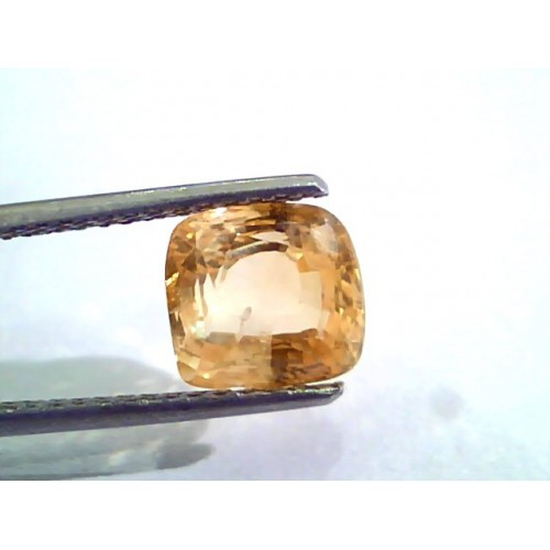 3.65 Ct Unheated Untreated Natural Ceylon Orange Yellow Sapphire