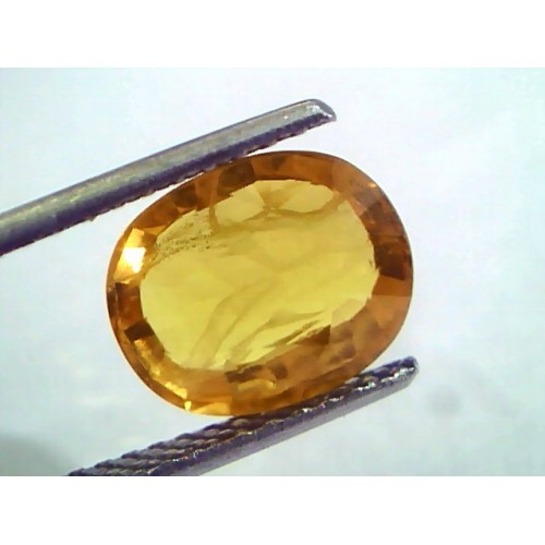 4.50 Ct Natural Yellow Sapphire Pukhraj Jupiter Gemstone(Heated)