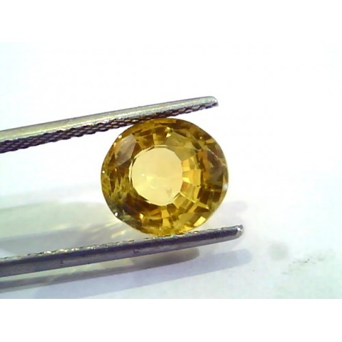 5.53 Ct Untreated Natural Ceylon Yellow Sapphire Gemstones AA