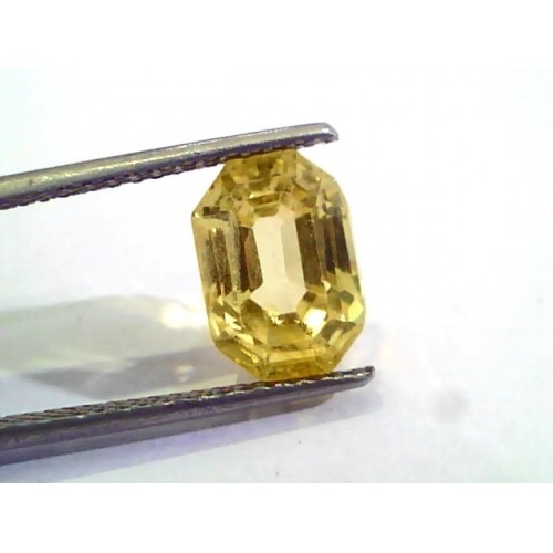 6.16 Ct Unheated Untreated Natural Ceylon Yellow Sapphire Gems AA