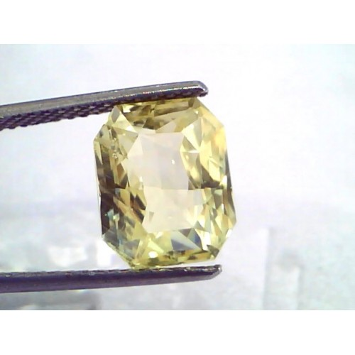 6.71 Ct IGI Certified Unheated Untreated Natural Ceylon Yellow Sapphire