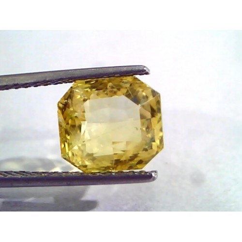 6.77 Ct IGI Certified Unheated Untreated Natural Ceylon Yellow Sapphire