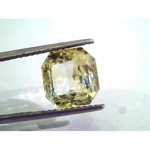7.10 Ct Unheated Untreated Natural Ceylon Yellow Sapphire Gemstone