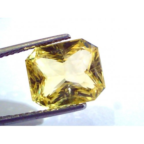 9.15 Ct Unheated Untreated Radiant Cut Natural Ceylon Yellow Sapphire